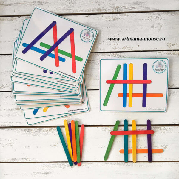 Обложка Дидактическая игра с цветными палочками