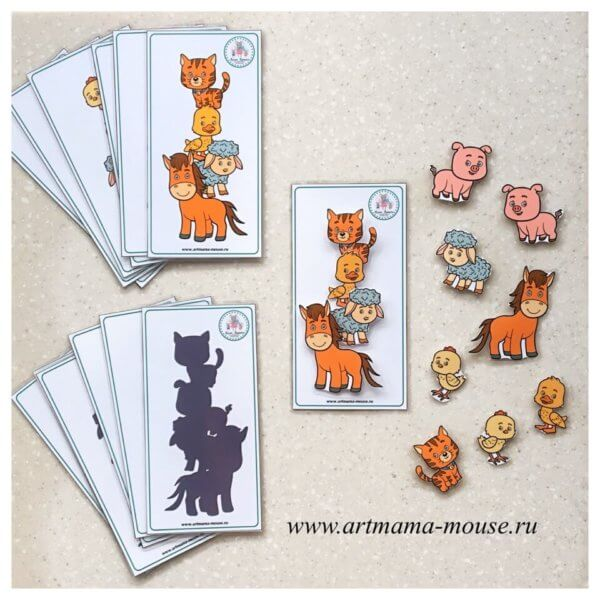 Обложка Игра на липучках «ЗвероПирамидки. Домашние животные»