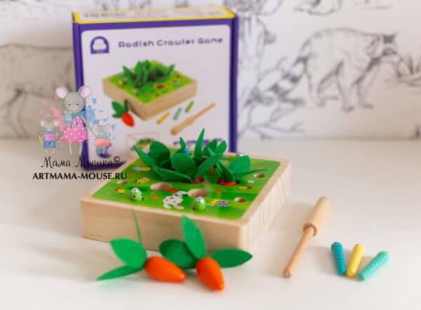 "обложка Магнитная игра-рыбалка ""Червячки+морковки Монтессори"""