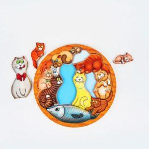 Обложка головоломка коты