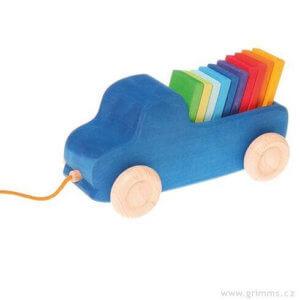обложка Синий грузовик-каталка с плашками (Grimms)