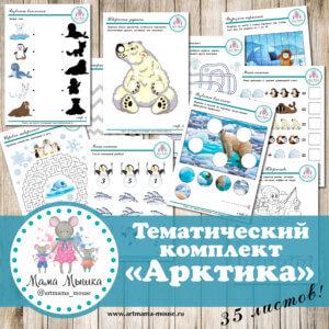 """Обложка Тематический комплект """"Арктика"""""""