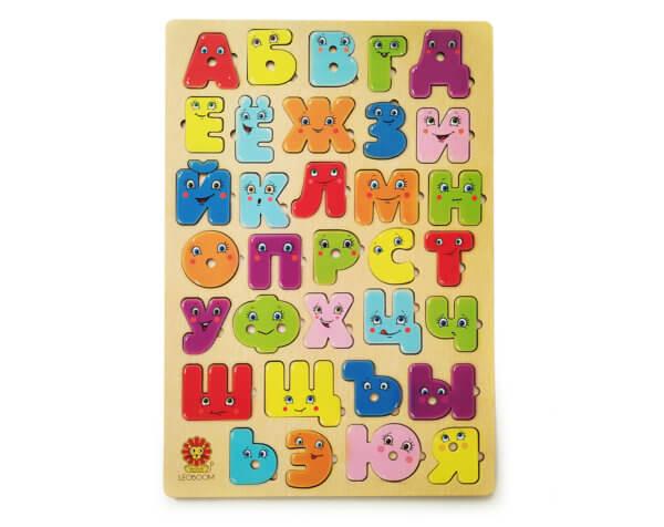 """обложка Большая алфавитная доска """"Веселые буквы"""""""