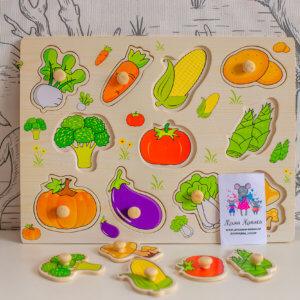 """обложка Рамка-вкладыши """"Овощи"""""""